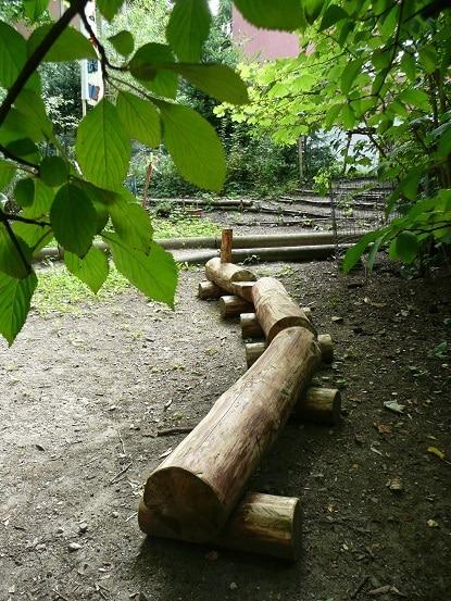 Garten Kita Farfallina - Balancierbalken