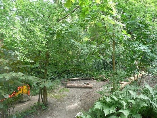 Garten Kita Farfallina Rutschbahn