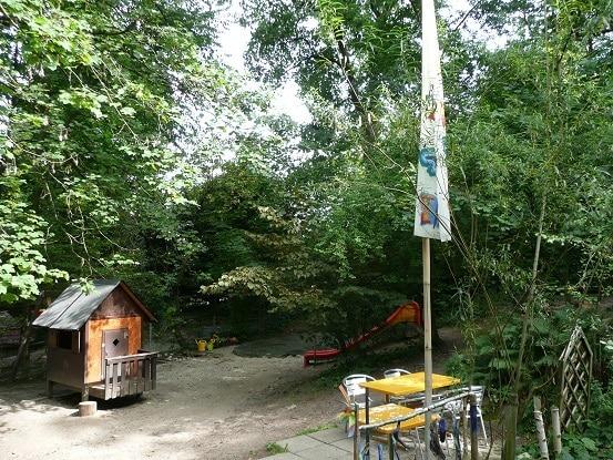 Garten Kita Farfallina Spielhaus