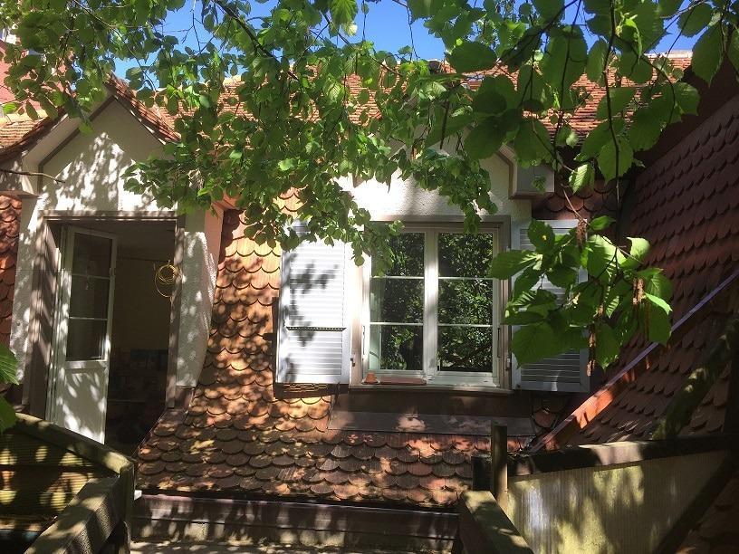 Terassentür und Fenster zum Garten - Kita Farfallina